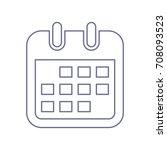 calendar icon. vector. violet