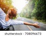 asian women travel relax in the ...   Shutterstock . vector #708096673