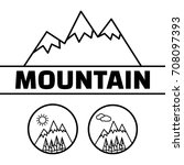 mountains vector logo. mountain ... | Shutterstock .eps vector #708097393