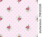 flowery bright pattern in small ...   Shutterstock . vector #708103183