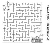 christmas maze for children ... | Shutterstock .eps vector #708119953