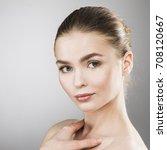 beauty woman face portrait.... | Shutterstock . vector #708120667