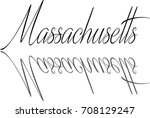 massachusetts text sign... | Shutterstock .eps vector #708129247