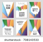abstract vector layout... | Shutterstock .eps vector #708143533