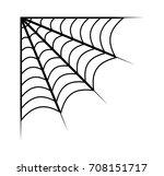 spider web vector symbol icon... | Shutterstock .eps vector #708151717