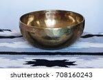 one singing tibetan brass bowl... | Shutterstock . vector #708160243