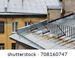 roofs of old brick houses ... | Shutterstock . vector #708160747