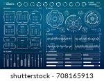 vector hud elements set for... | Shutterstock .eps vector #708165913
