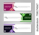 vector abstract design banner... | Shutterstock .eps vector #708174067