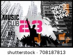 music event. dancing people | Shutterstock .eps vector #708187813