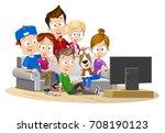 vector cartoon illustration of... | Shutterstock .eps vector #708190123