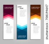 vector abstract design banner... | Shutterstock .eps vector #708194647