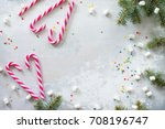 christmas composition.... | Shutterstock . vector #708196747