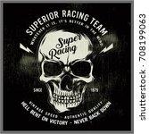 vintage bikers graphics and... | Shutterstock .eps vector #708199063
