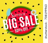 summer sale abstract banner... | Shutterstock . vector #708199963