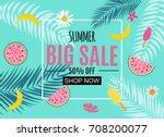 summer sale abstract banner... | Shutterstock . vector #708200077