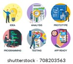 from idea to finished product.... | Shutterstock .eps vector #708203563