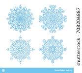 snowflake vector symbols ... | Shutterstock .eps vector #708206887