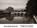 castel sant angelo in italy... | Shutterstock . vector #708221083