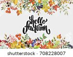 Autumn Floral Background With...