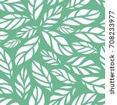 vector illustration of leaves... | Shutterstock .eps vector #708233977