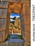 a window to machu picchu.... | Shutterstock . vector #708239467