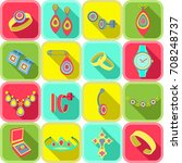 set icons jewelry in vector....