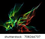 dark abstract background with a ... | Shutterstock . vector #708266737