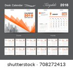 set desk calendar 2018 template ... | Shutterstock .eps vector #708272413