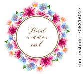 vintage delicate invitation...   Shutterstock . vector #708316057