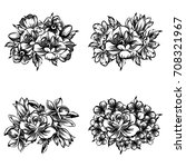 flower set | Shutterstock .eps vector #708321967