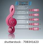 abstract 3d digital... | Shutterstock .eps vector #708341623
