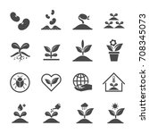 plant and sprout icons. vector...   Shutterstock .eps vector #708345073