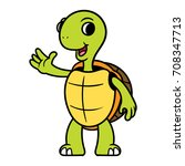 cartoon turtle illustration | Shutterstock .eps vector #708347713
