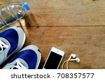 running shoe drinking water ... | Shutterstock . vector #708357577