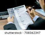 businessman using the pen to...   Shutterstock . vector #708362347