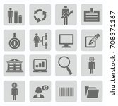 business icon set vector | Shutterstock .eps vector #708371167