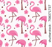 vector seamless pattern with... | Shutterstock .eps vector #708371737