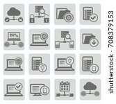 database and network icon set... | Shutterstock .eps vector #708379153