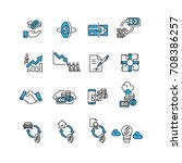 money set icons vector | Shutterstock .eps vector #708386257