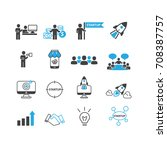 business and startup icons set... | Shutterstock .eps vector #708387757
