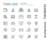 collection of business thin... | Shutterstock .eps vector #708388333