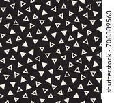 seamless primitive jumble... | Shutterstock .eps vector #708389563