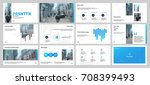 gray and blue elements on a... | Shutterstock .eps vector #708399493
