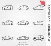 car icons  car icons vector ... | Shutterstock .eps vector #708401083