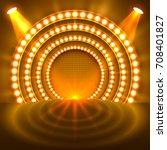 show light podium gold... | Shutterstock .eps vector #708401827