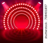 show light podium red... | Shutterstock .eps vector #708401857