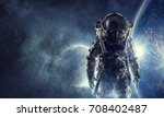 adventure of spaceman. mixed... | Shutterstock . vector #708402487