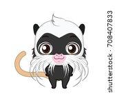cute stylized cartoon emperor... | Shutterstock .eps vector #708407833