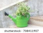 Green Plastic Watering Can Use...